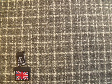 Grey Tweed with a Mini Check Design Fabric AZ35